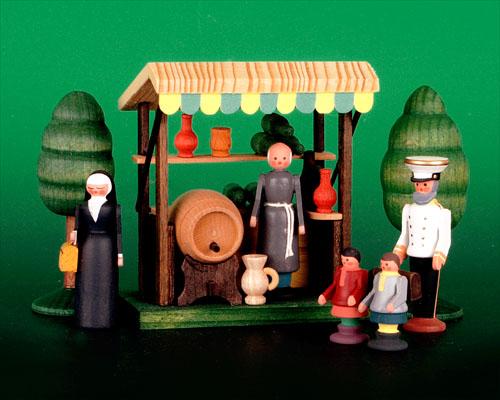 Seiffen Weihnachtshaus - Sommermarkt Weinstand 7 tlg - Bild 1