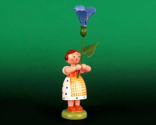Seiffen Weihnachtshaus - Sommerblumenkind 12cm Prunkwinde - Bild 1