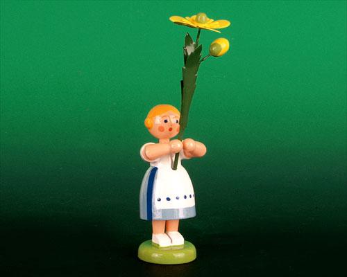 Seiffen Weihnachtshaus - Sommerblumenkind 12cm Butterblume - Bild 1