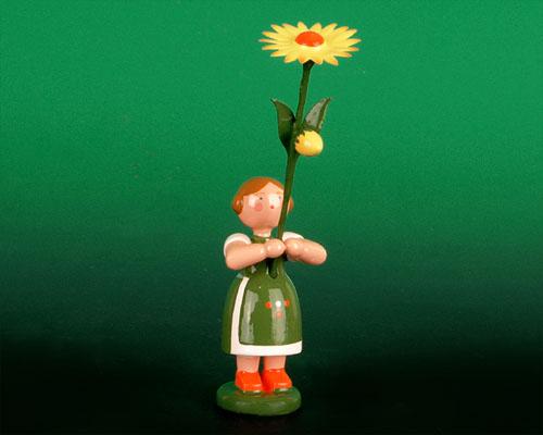 Seiffen Weihnachtshaus - Sommerblumenkind 12cm Mittagsblume - Bild 1