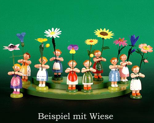 Seiffen Weihnachtshaus - Wiese grün 2 stufig - Bild 3