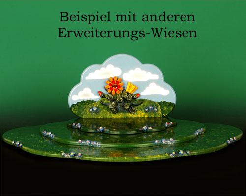 Seiffen Weihnachtshaus - Hubrig Wiese grün mit Himmel - Bild 3