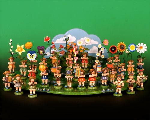 Seiffen Weihnachtshaus - Sommerhutblumenmädchen 11 cm Fuchsie NEU 2021 - Bild 3