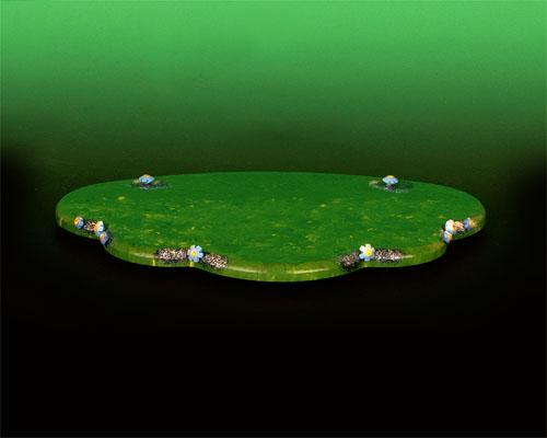 Seiffen Weihnachtshaus - Hubrig Wiese grün klein - Bild 1