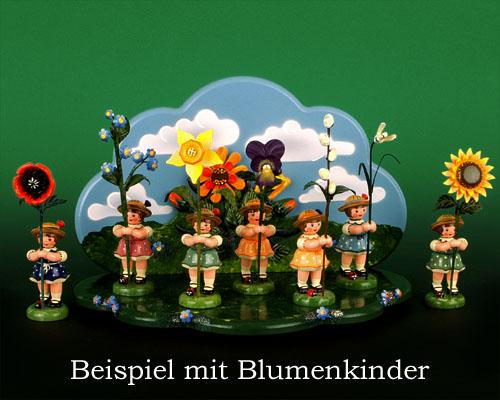 Seiffen Weihnachtshaus - Hubrig Wiese grün mit Himmel - Bild 2