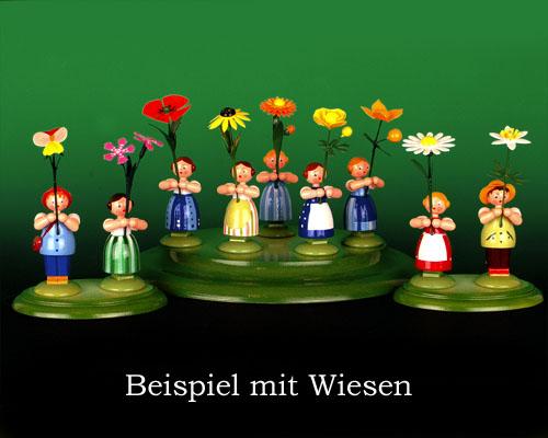Seiffen Weihnachtshaus - Wiesenblumenkind 11cm Löwenzahn - Bild 3