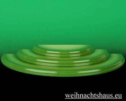 Seiffen Weihnachtshaus - Wiese grün 3 stufig - Bild 1