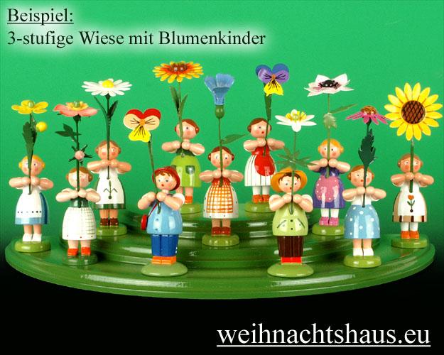 Seiffen Weihnachtshaus - Wiese grün 3 stufig - Bild 3