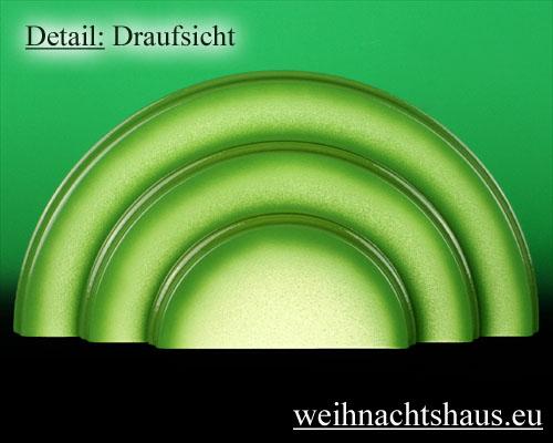 Seiffen Weihnachtshaus - Wiese grün 3 stufig - Bild 2