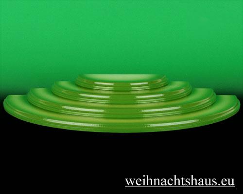 Seiffen Weihnachtshaus - Wiese grün 4 stufig - Bild 1