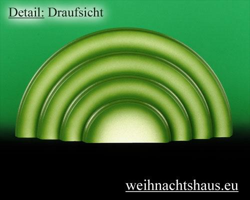 Seiffen Weihnachtshaus - Wiese grün 4 stufig - Bild 2