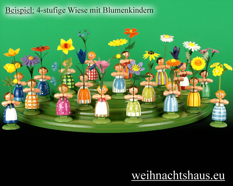 Seiffen Weihnachtshaus - Wiese grün 4 stufig - Bild 3