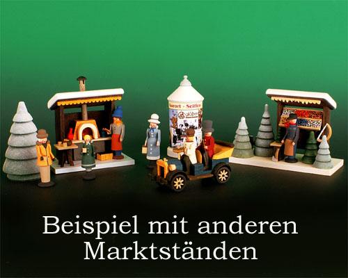 Seiffen Weihnachtshaus - Wintermarkt Litfaßsäule - Bild 2