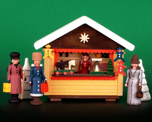 Seiffen Weihnachtshaus - Weihnachtsmarkt Spielzeugstand 6 tgl. - Bild 1