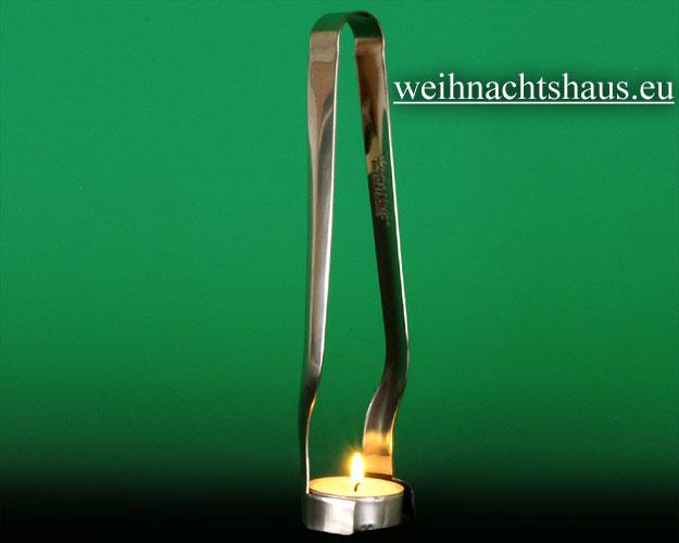 Seiffen Weihnachtshaus - Teelicht Zange für Teelichter - Bild 1
