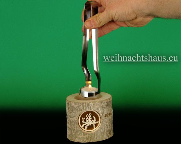Seiffen Weihnachtshaus - Teelicht Zange für Teelichter - Bild 2