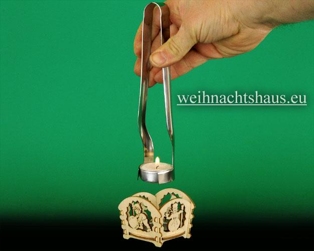 Seiffen Weihnachtshaus - Teelicht Zange für Teelichter - Bild 3