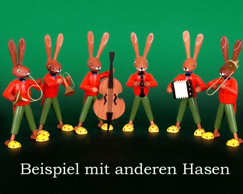 Seiffen Weihnachtshaus - Pantoffelhasenmusikant Akkordeon - Bild 2