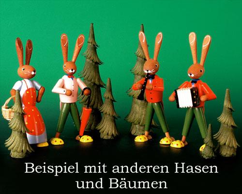 Seiffen Weihnachtshaus - Pantoffelhasenmusikant Akkordeon - Bild 3