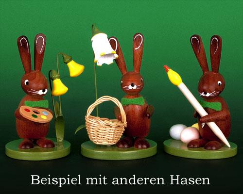 Osterhasen aus dem Erzgebirge aus Holz erzgebirgische Osterhäschen online kaufen Osterdeko Osterhase aus Seiffen