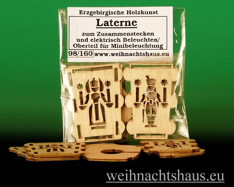 Seiffen Weihnachtshaus - Laterne zum Basteln aus Holz Erzgebirge Engel- Bergmann - Bild 1