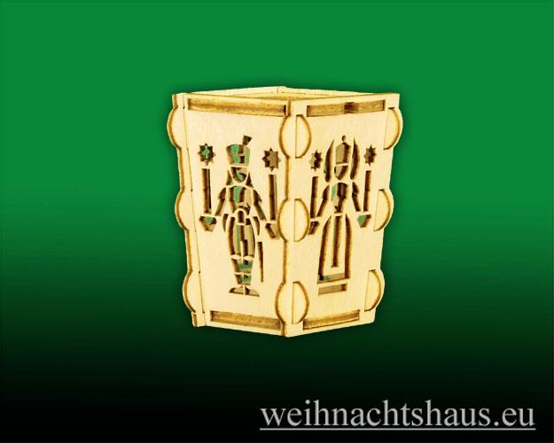 Seiffen Weihnachtshaus - Laterne zum Basteln aus Holz Erzgebirge Engel- Bergmann - Bild 2
