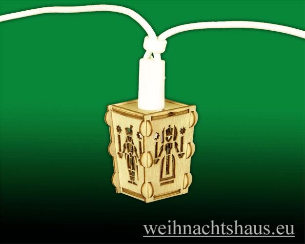 Seiffen Weihnachtshaus - Laterne zum Basteln aus Holz Erzgebirge Engel- Bergmann - Bild 3