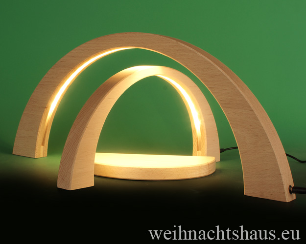 Seiffen Weihnachtshaus - Schwibbogen modern LED ohne Figuren 3 teilig - Bild 2